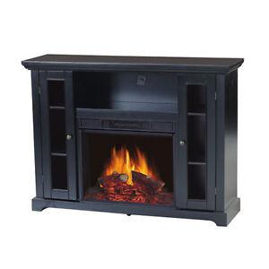 Flametec 750w 1500w Electric Fireplace Heater Csa Csaus Tv Stand Ebay