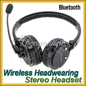 Stereo Bluetooth Headset Boom Mic Noise Canceling Wireless Headphone iPhone 4S