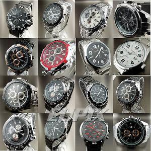 QUARTZ-HOUR-DIAL-DATE-CLOCK-SPORT-MEN-BOY-STAINLESS-STEEL-BAND-WRIST-WATCH-V001