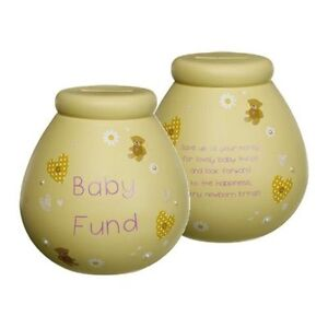 Pots of Dreams Ceramic Money Pot Box Jar - Christmas Birthday Wedding Gift