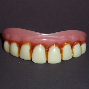 Deluxe Billy Bob Full Grill Fake Costume False Teeth Dentures Funny Goofy