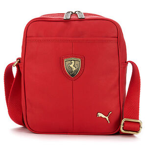 Brand-New-PUMA-Ferrari-LS-Small-Messenger-Shoulder-Bag-Red-07046102