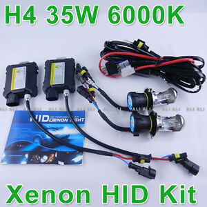 Bi-Xenon-HID-Lights-Kit-Slim-Ballast-Hi-Low-H4-H4-3-9003-H13-9004-9007-6000K-35W