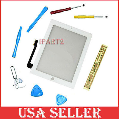 New Compatible Front Panel Touch Screen Glass Digitizer for iPad 3 White + Tools on Rummage