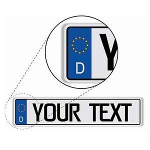 German-European-License-Plate-Custom-Made-to-Order-Reflective