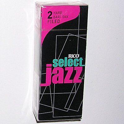 1 Box Of 5 Rico Select Jazz Reeds Baritone Bari Sax/saxophone 2-hard (2h) Filed