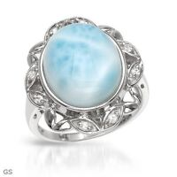 BRAND NEW RING MADE OUT OF MOONSTONE & STERLING SILVER