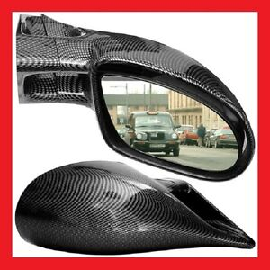 BMW E36 3 Series 2 Door M3 Carbon Wing Door Mirrors Left & Right Manual