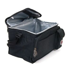 New-Deluxe-Lunch-Bag-Cooler-Box-Insulated-Large-Multiple-Pockets-Shoulder-Strap