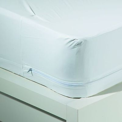 Twin Size WATERPROOF ZIPPERED Vinyl Mattress Cover ...