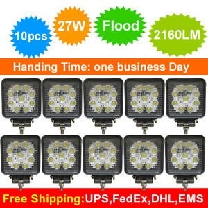 10pcs-x-27w-Led-Work-flood-spuare-Light-12v-24v-Off-road-Truck-4x4-Boat-SUV-lamp