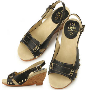 New-Womens-Classic-Dress-Casual-Heels-Wedge-Platform-Sandals-Black