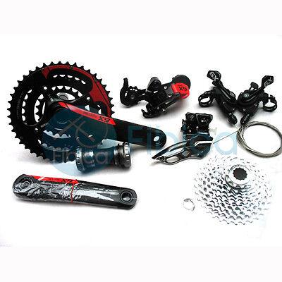 Sram X9 X.9 Mtb Bike Group Set 6pcs 30/10x3 Speed Red Derailleur+crank...
