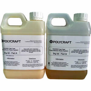 Polycraft SG2000 - 2kg Fast Cast Polyurethane Liquid Plastic Casting Resin Kit