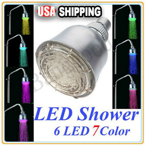 New-7-Color-Automatic-Control-Changing-6-LED-Shower-Head-Water-Light-Home-Bath