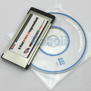 NEC-Chip-720202-Express-card-ExpressCard-34mm-to-USB-3-0-2-Ports-Adapter-Card-BE