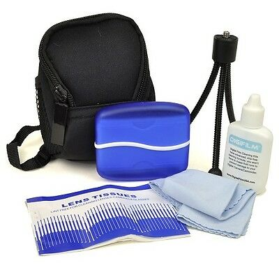 Deluxe Digital Camera Kit Case Tripod Cleaning Cloth