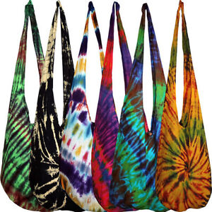 Tie-Dye-Bag-Shoulder-Purse-Sling-Hippie-Boho-Gypsy-Bags-Hippy-Ladies-Womens-Girl