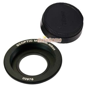 M42-Lens-to-Nikon-Camera-Mount-Adapter-focus-Infinity-with-cap