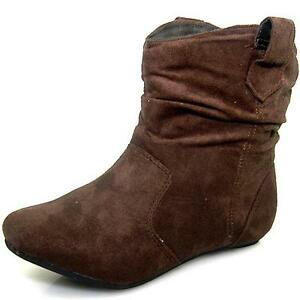 ankle high flat comfy slouch boots shoes brown 9 ebay