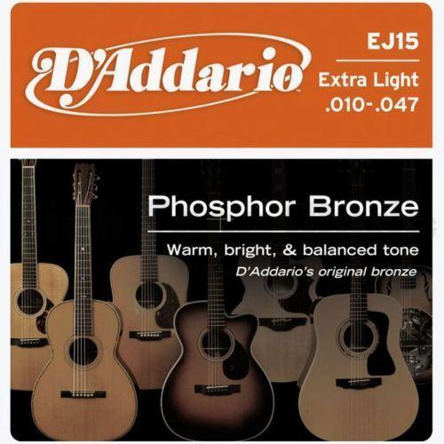 D'ADDARIO EJ15 ACOUSTIC GUITAR STRINGS 10-47
