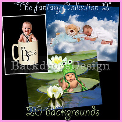Digital Backgrounds Fantasy Kids Photography Backdrops Photo Prop Overlays