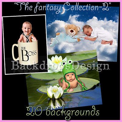 Digital Backgrounds Fantasy Kids Photography Backdrops Photo Prop Overlays