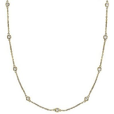 Cz By The Yard Inch 18k Yellow Gold Vermeil Long Chain Necklace 24 36 54