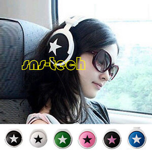 New-Mix-Style-Star-Headphones-Headset-For-MP3-PSP-DJ