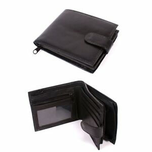 MENS-LUXURY-SOFT-BLACK-LEATHER-WALLET-NOTES-COIN-MONEY-ZIP-NEW-POCKET-GIFT