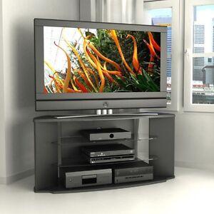 black corner tv stand flat screen 55 inch television entertainment center new 52 ebay. Black Bedroom Furniture Sets. Home Design Ideas