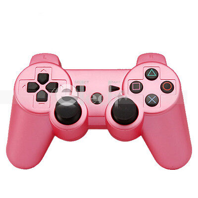 Wireless Bluetooth Game Controller for Sony Playstation 3 PS3 Pink on Rummage