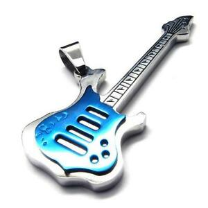Men's Stainless Steel Electric Guitar Pendant Necklace