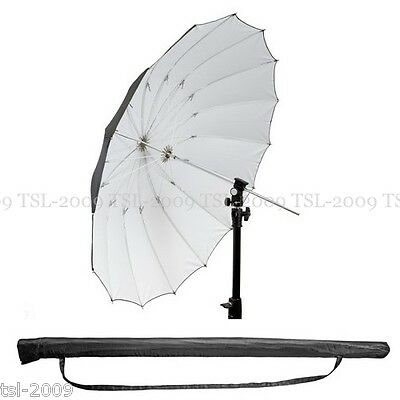 "180cm 71"" Super Large Black/White PRO Studio Umbrella Mega Brolly Quality"