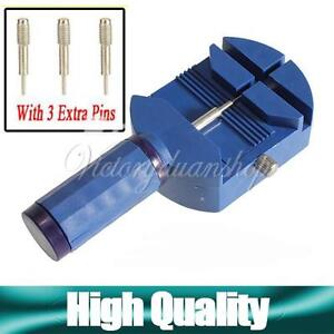 Watch-Link-Pin-Remover-Band-Strap-Adjusting-Repair-Tool-with-3-Extra-Pins-New