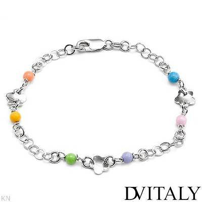 Dv Italy Brand Bracelet With Simulated Gem In 925 Sterling Silver