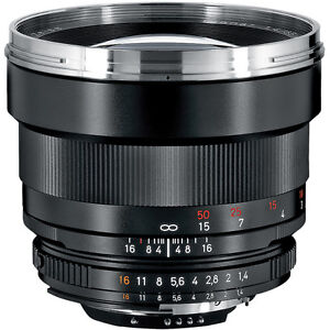 New Zeiss Planar T* 85mm f/1.4 ZF.2 Lens for Nikon F-Mount ship by FedEx