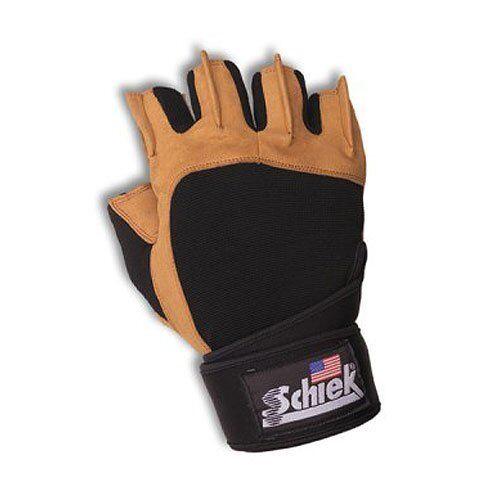 Schiek Sports 425 Power Gel Lifting Gloves With Wrist Wraps