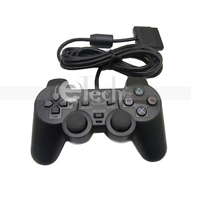 Wired Shock Game Controller Joypad for Sony Playstation 2 PS2 Black on Rummage
