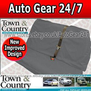 Town-Country-Multi-Fit-IMPERMEABILE-XL-AUTO-GRIGIO-POSTERIORE