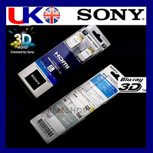 2M OFFICIAL SONY HDMI Cable 1.4v HD PS3 3D BLACK UK