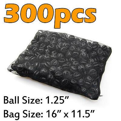 "300pcs Aquarium 1.25"" Bio Balls Filter Media FREE Bag Wet/Dry Koi Fish Pond Reef"