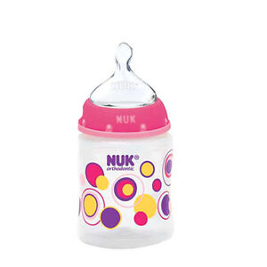 NUK TrendLine Orthodontic Dots BABY Bottles MED & SLOW FLOW, 5OZ&10OZ