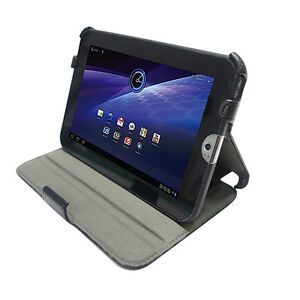 Stand Leather Case with Angle Adjustable with HandStrap for Toshiba Thrive 7