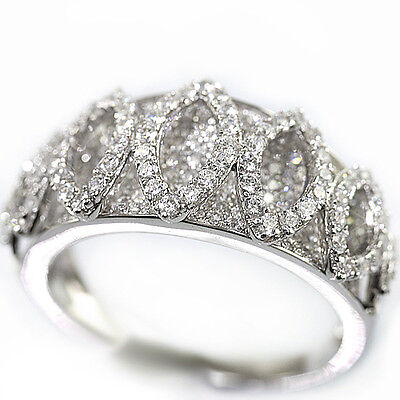 925 Sterling Silver 2 Pointer Simulated Diamond Bridal Engagement Band Ring Set