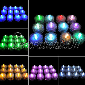 12-LED-Waterproof-Submersible-Lights-Candles-Replaceable-Tea-Xmas-Wedding-Decor