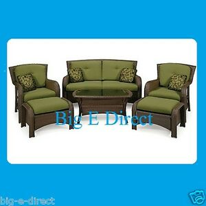 pc outdoor wicker deep seating patio furniture loveseat chairs
