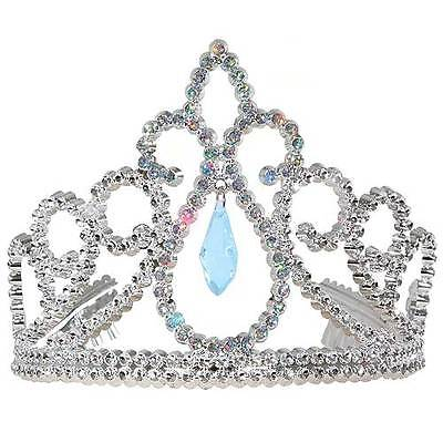 Plastic-Tiara-Crown-with-BLUE-Gem-Cinderella-or-Aurora-Costume-Princess-Paradise