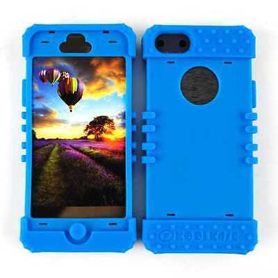 Blue Hybrid Part-1 For Apple Iphone 5 Rubber Skin Changeable Soft Protector
