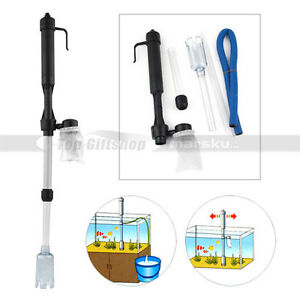 Aquarium-siphon-Syphon-Auto-Fish-Tank-Vacuum-Gravel-Water-Filter-Cleaner-pump
